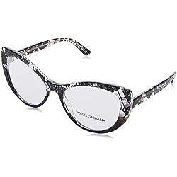 Dolce & Gabbana 0Dg3285, Monturas de Gafas para Mujer, Negro (Black Lace Gradient), 54