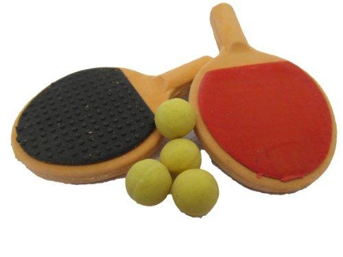 Radiergummi x1 Neuheit Puzzle Sammel- Tablet Tennisschläger & Ball