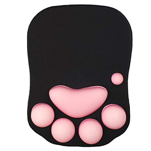 Mauspad Weiche Silikon Cute Cat Paw Mauspad Memory Foam Handgelenkauflagen Kissen Mousepad Für Laptop-Computer Mousepad @ Blackpink -