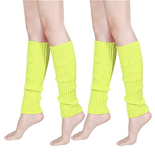 Schokolade Knit Pants (Somerl HOT kuschelsocken strümpfe Fluoreszierende Farbe Streifen Boot Manschetten wärmer stricken Bein Party Strümpfe socks,Mint Green)
