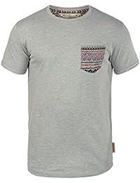 INDICODE Paxton Herren T-Shirt Rundhals Brusttasche