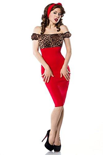 Atixo–Vestido de Vintage Pencil–Leo/rojo multicolor XL