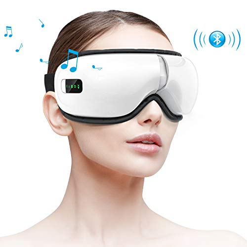 HOMIEE Masseur Oculaire Électrique, Appareil de Sommeil Bluetooth, Massage pour les yeux