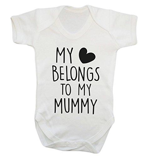 My heart belongs to my mummy baby vest bodysuit babygrow boys girls unisex