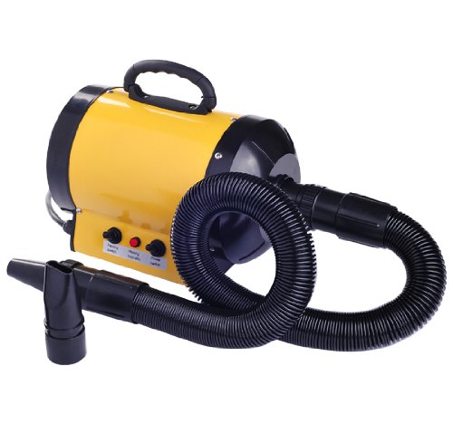 pawhut-dog-pet-grooming-hair-dryer-hairdryer-heater-blaster-2800w-yellow-new