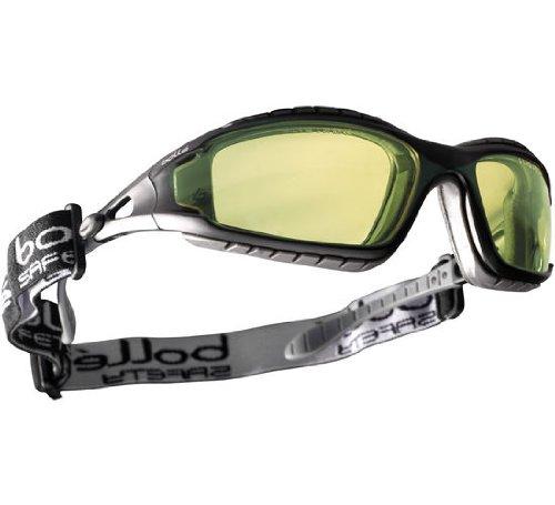 Bollé Schutzbrille -TRACKER II-, mit Schaumstoff & Kopfband, anti-kratz & anti-beschlag - GELB