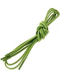 Les lacets Français - Lacets Ronds Coton Ciré Couleur Vert Anis