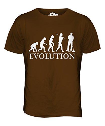 CandyMix Hausmeister Parkwächter Evolution Des Menschen Herren T Shirt Braun