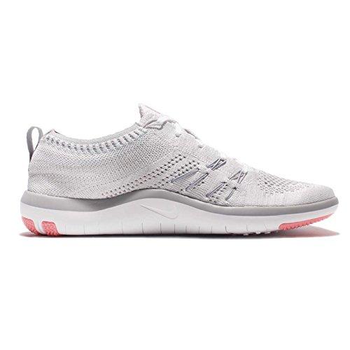 Nike W Free Tr Focus Flyknit, Scarpe da Escursionismo Unisex – Adulto White/Bright Melon/Wolf Grey