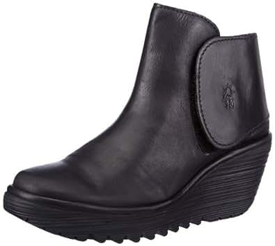 Fly London Yogi Rug Women's Boots - Black, 3 UK, 36 EU