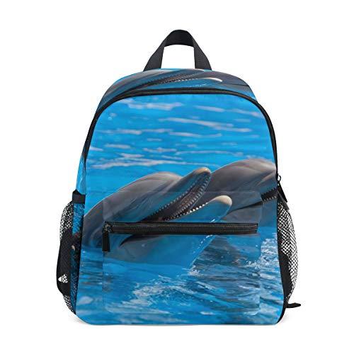 CPYang Kinder-Rucksack süßer Ozean-Tier-Delfin, Schultasche, Kindergarten, Kleinkinder, Vorschulrucksack für Jungen und Mädchen (Ozean Tiere Süße)