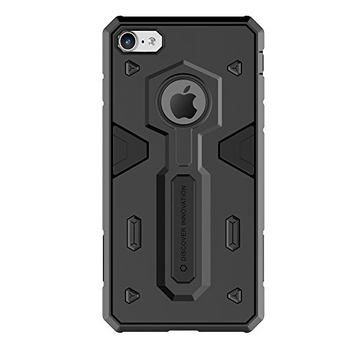 iPHONE 7 HÜLLE - DEFENDER CASE STRONG [ROT] - OUTDOOR HYBRID BUMPER - Cover, Rahmen, Skin schwarz