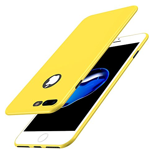Custodia iPhone 7 Plus Cover, Qissy®Custodia Placcatura TPU Bumper Case Silicone Anti-graffio Copertura Tacsa Caso per apple iPhone 7 Plus/ 8 Plus 5.5 Case Cover Giallo