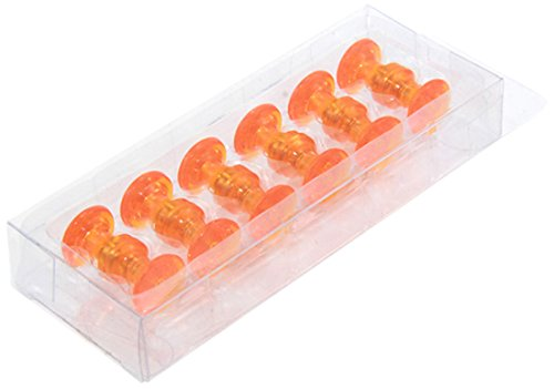 First4magnets F4M16O-1 oranger traditioneller Magnetkarten-Steckmagnet (16mm Durchmesser x 15mm hoch) (1 1 St.-Packung)