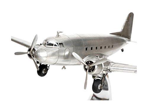 Modellino aereo douglas dc3dc-3uvetta bomber full metal stand model + brillibrum flyer