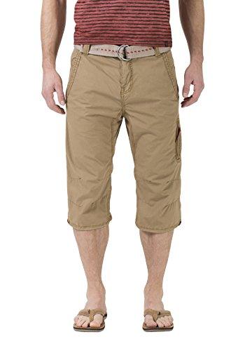 Timezone Herren Shorts Comfort Connor incl. Belt Braun (Cashew Brown 6013) W36 (Lee-comfort-fit-shorts)