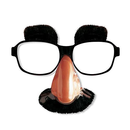 Widmann 2707B Brille mit Nase, Schnurrbart und Augenbrauen, Schwarz