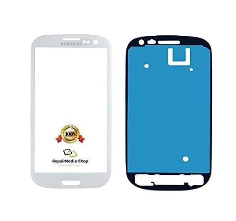 Samsung Galaxy S3 Mini Display Touchscreen GLAS Scheibe WEISS + Rahmenkleber i9300 i9305 (Galaxy S3 Display Kaufen)