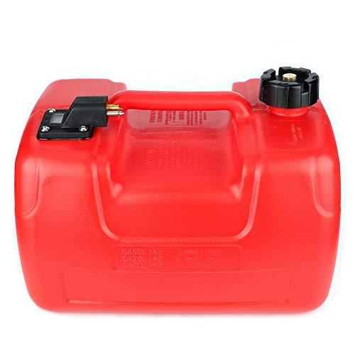 Suuonee Bootstank, 12L tragbarer Bootsmotor Marine-Außenborder-Kraftstofftank mit rotem Kunststoff-Ölbehälter