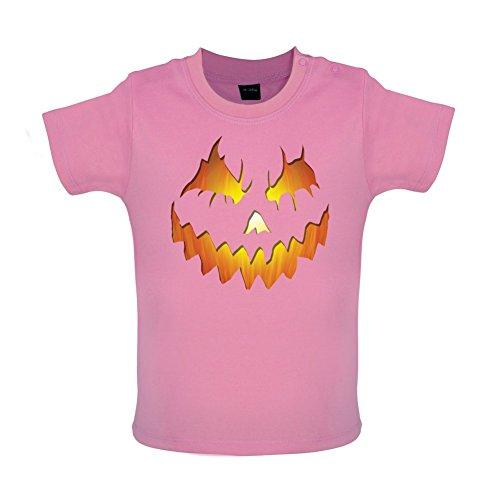 Halloween Pumpkin Face - Baby T-Shirt - Bubble-Gum-Pink - 18 bis 24 (Kostüme Bubble Gum Halloween)
