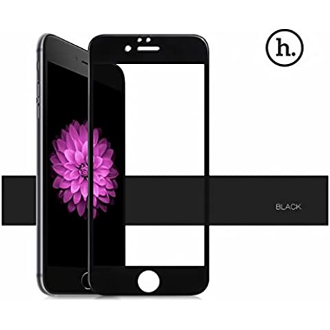 HOCO vetro temprato protezione vetro Tempered Glass Pellicola proteggi schermo Apple iPhone 6/6S smartphone con 100% Display Copertura per–cristallo trasparente 0,15mm (Nero)