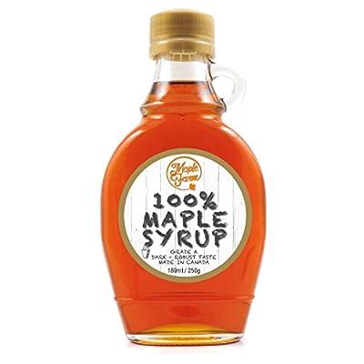 Ahornsirup Grad A (Dark, Robust taste) - 189 ml (250 g) - Original Maple Syrup
