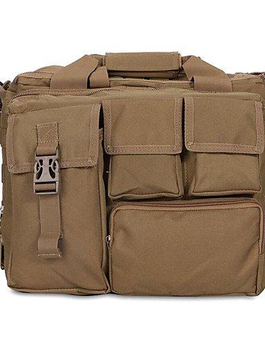 ZQ 10 L Laptop-Rucksäcke Wasserdicht Armeegrün Oxford Khaki