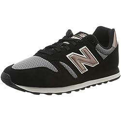 New Balance 373, Baskets Femme, Noir (Black Black), 39 EU