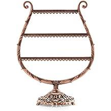 4674d203b8d70 Expositor para joyas OULII Puerta Organizador para pendientes pulseras  collares anillos (Bronce)
