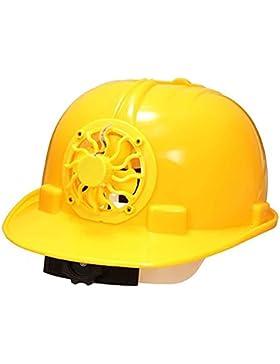 Casco de trabajo de construcción. casco de seguridad con energía solar, gorra de ventilación con ventilador de...
