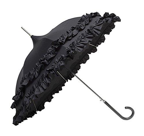 Molly Marais Umbrella Französisch Schwarz mit zwei Flounces (Molly-design)