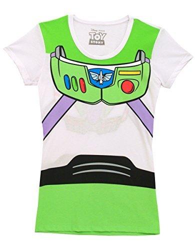 Disney Toy Story Buzz Lightyear Junior Astronaut Kostüm weiß T-Shirt (Junior X-Large) (Disney Junior Kostüme)
