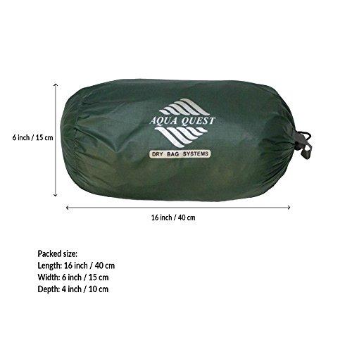 41iaxG1kWAL. SS500  - Aqua Quest Guide Tarp - 100% Waterproof Ultralight RipStop SilNylon Backpacking Rain Fly - 3x2, 3x3, 4x3, 6x4 Green or…