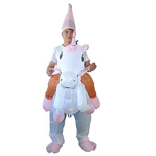 Sunny Aufblasbares Halloween-Abendkleid-Pegasus-Kleidungs-Cosplay-Kostüm,Lustige Neuheit Cosplay für Halloween und Party - Nicht Dumm Kostüm