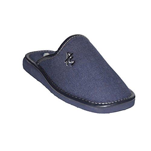 Cavaliere pantofole punta chiusa Andinas blu navy taille 41
