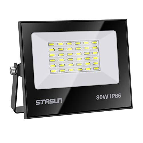 Faretto a LED da 30W, 2700LM, Luce Bianca 6000K, Impermeabile IP66, Faro LED Proiettore per Cortile, Garage, Parcheggio, Giardino, 24 mesi di garanzia