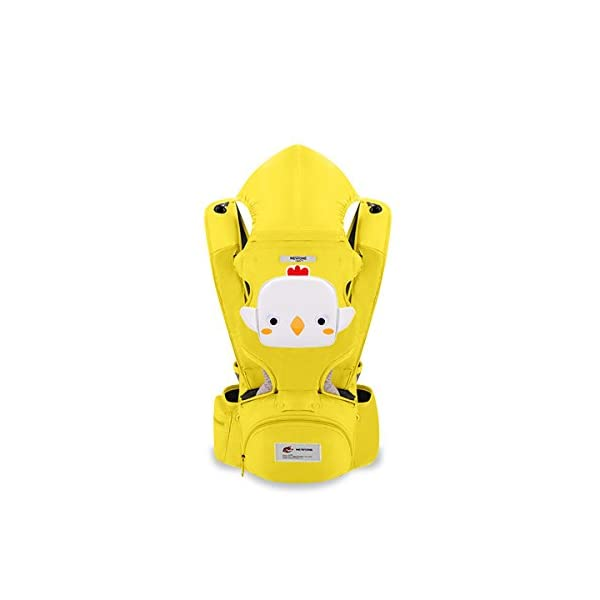 SONARIN 3 in 1 Multifunction Cartoon Hipseat Baby Carrier, Ergonomic,100% Cotton, One Size Fits All,Adapted to Your Child's Growing,Easy to Carry and Easy Mom,Ideal Gift(Yellow) SONARIN Applicable age and Weight:0-36 months of baby, the maximum load: 20KG, and adjustable the waist size can be up to 46.5 inches (about 118cm). Material:designers carefully selected soft and delicate 100% cotton fabric. Resistant to wash, do not fade, to the baby comfortable and safe experience. Cartoon version design, let the baby more like and adapt. Description:patented design of the auxiliary spine micro-C structure and leg opening design, natural M-type sitting. Side with small pockets so that you can put some daily necessities when you go outside. The baby carrier and the hipseat junction have a protective pad,intimate design, so that your baby more comfortable. 1