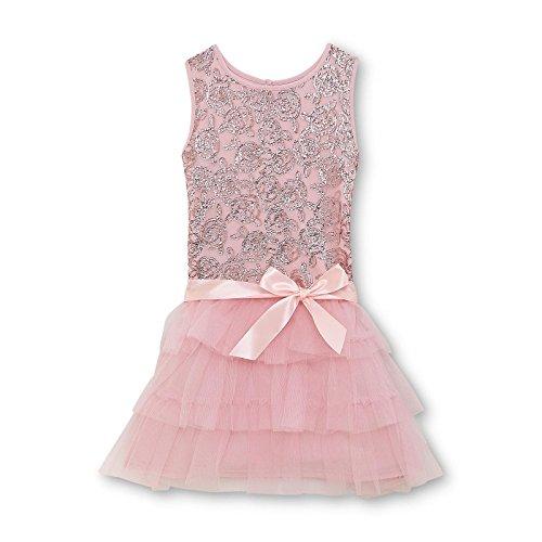 Sophia Grace & Rosie Princess Cinderella Dress festliches Mädchen Tutu Kleid Rosa mit Pailletten veredelt 140 - (Kitty Hello Outfit Tutu)