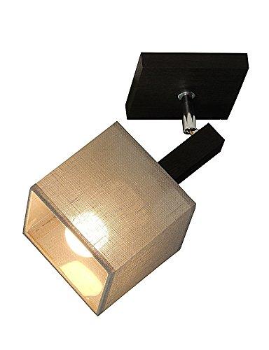 Deckenlampe - Wero Design Vigo-026 B Cappuccino Tansparent - 6 Varianten, Spot, Deckenleuchte, Leuchte, Lampe, Massivholz, Eiche, Eichenholz