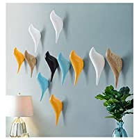 Yoillione Wooden Bird Hook Wall Hanger Wooden Coat Hooks,Decoration Hooks Animal Hooks for Wall Mounted Hooks Bird Shape,Pack of 2,8 Colors