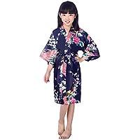 BOYANN Niños Niñas Pavo Real Kimonos Pijamas Batas Vestido ...