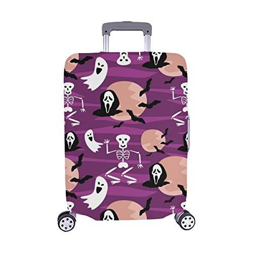 (Nur abdecken) Happy Halloween Sensenmann Staubschutz Trolley Protector case Reisegepäck Beschützer Koffer Abdeckung 28,5 X 20,5 Zoll