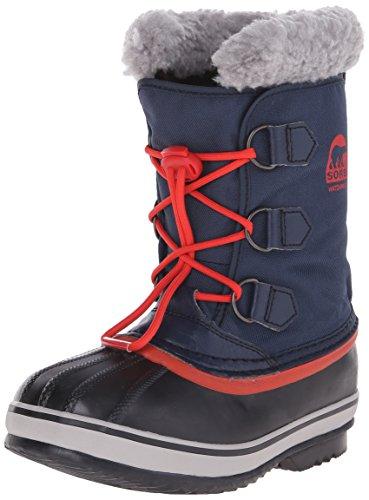 Sorel YOOT PAC NYLON - Stivaletti da neve a gamba corta, imbottitura pesante per bambini, blu (collegiate navy, sail red 464), 36