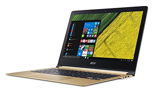 "Acer Swift 7 - Ordenador Portátil de 13.3"" Full HD (Intel Core i5-7Y54, 8 GB RAM, 256 GB SSD, Intel HD Graphics, Windows 10);Dorado - Teclado QWERTY Español"