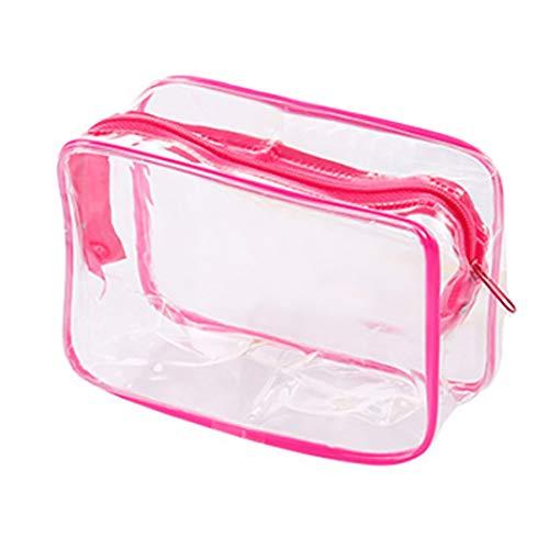 MOMEY Clear Sac de Toilette étanche Transparent Sac de Voyage Portable de Transport cosmétique Sac de Poche Sac de Lavage