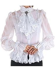 Camisa Victoriana Blanca con Tul