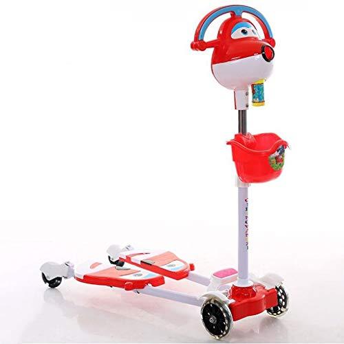 Kinderfrosch Roller 3-12 Jahre Alt Scherenauto Separate Füße Pedal Kind Gleitblock Twist Auto Schaukel Auto (Color : Red)