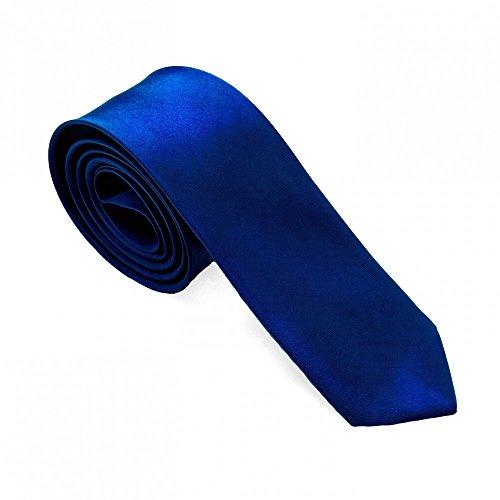1 cravatta uomo elegante per camicie abiti e da cerimonia nuziale jeans 21 colori differenti, colore:blu scuro