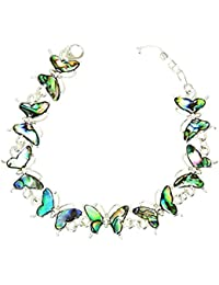 Beautiful Natural Abalone Muschel Butterfly Silver Farbe Bracelet In Gift Box - A