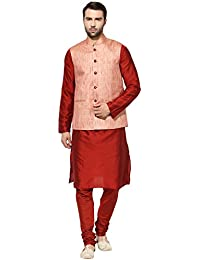 kisah Benarasi Jaquard Cotton SilkWovenWaistCoat For Men's